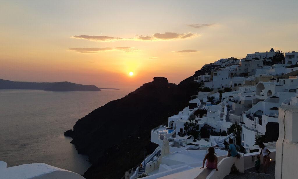 Päikeseloojang, Santorini, Kreeka saared